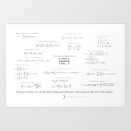 High-Math-Inspiration 01 - Black & Gray Art Print