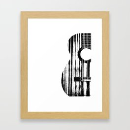 Acoustic Guitar Music Player Musician Guitarist Rock Framed Art Print