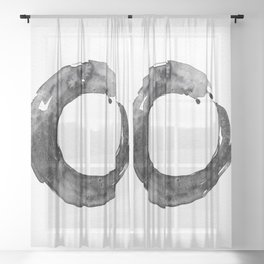 Enso Serenity No.12D by Kathy Morton Stanion Sheer Curtain