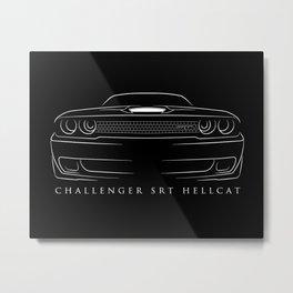 Dodge Challenger SRT Hellcat - Stencil Metal Print
