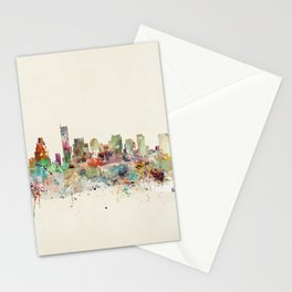 Boston Massachusetts Skyline Stationery Cards