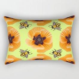 Orange Poppies Rectangular Pillow