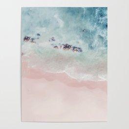 Ocean Pink Blush Poster