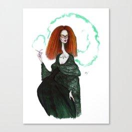 Myrtle Snow Canvas Print