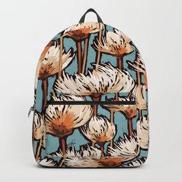 Modern Cotton Grass | Soft Teal Green Backpack