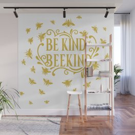 Be Kind to Beekind - Save the Bees Wall Mural
