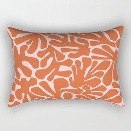 The Cut Outs | Pink & Dark Orange Rectangular Pillow