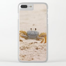 Portrait of a Ghost Crab Clear iPhone Case