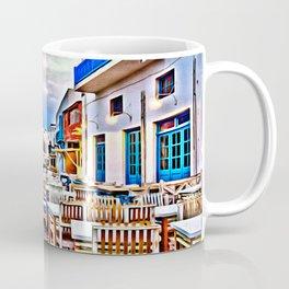 Cafe on Mykonos Beach Coffee Mug