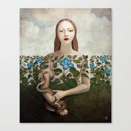 Eva and the Garden Canvas Print