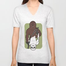 Chewbacca and Stormtrooper Unisex V-Neck