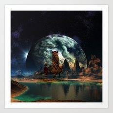 Calvin and Hobbes-Nebula Art Print