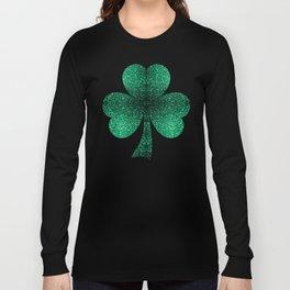 Beautiful Emerald Green glitter sparkles Long Sleeve T-shirt