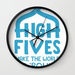 Hi-Fives Wall Clock