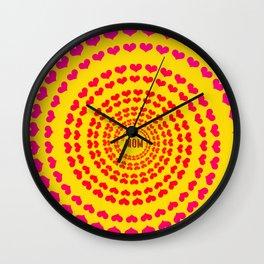 MOM HEARTED - Yellow Wall Clock