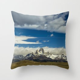 Fitz Roy in a summer day Throw Pillow
