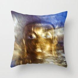 Abstract Buddha Throw Pillow
