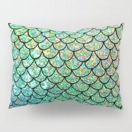Colorful Glitter Mermaid Scales II Pillow Sham