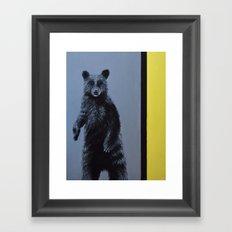 Minimalist Bear Framed Art Print