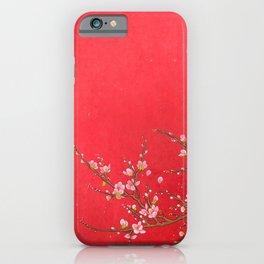 Minhwa: Red Blossom (Korean Traditional Art) iPhone Case