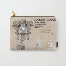 Cuckoo clock patent art Carry-All Pouch