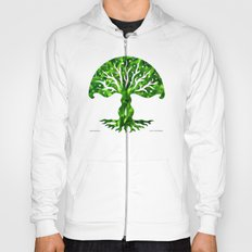 viviána tree of life, green gallery mandala Hoody