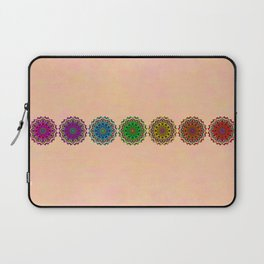 Colorful Rainbow Chakra Mandala , Yoga & Meditation Seven Sacred Mandalas Flower Painting Laptop Sleeve
