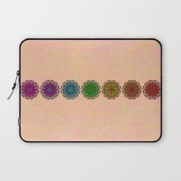 Colorful Rainbow Chakra Mandala , Yoga & Meditation Seven Sacred Mandalas Flower Painting Laptop Sleeve