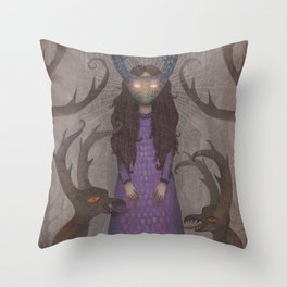 Anticipation of the Little Bride Throw Pillow