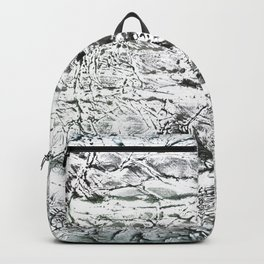 Gray marble watercolor Backpack