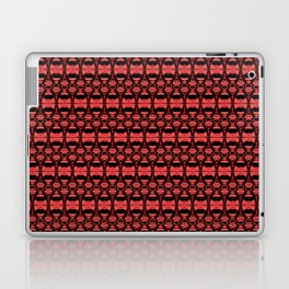 Dividers 02 in Red over Black Laptop & iPad Skin