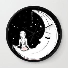 Moonlight Meditation Wall Clock
