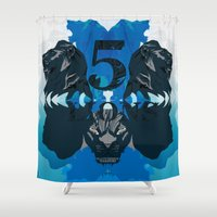 lions Shower Curtains featuring Five Lions by Illustrious Warriors
