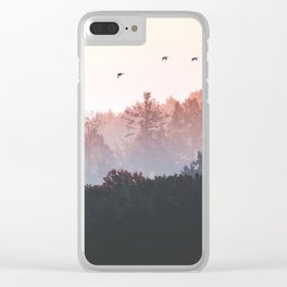 Birds in the fall Clear iPhone Case