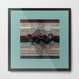 Peachy Mint Swirls II Metal Print