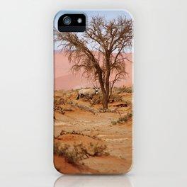 NAMIBIA ... Sossusvlei Oryx I iPhone Case