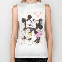 minnie Biker Tanks featuring Mickey & Minnie by karl oconnor
