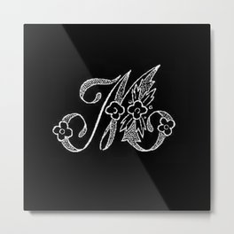 M Monogram Metal Print