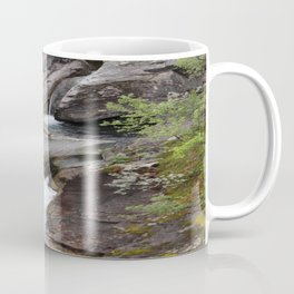 Norwegian waterfall photo, landscape photos, pothole, Instant download, Fine art gifts  Coffee Mug