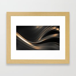 Dark Gold Abstraction Framed Art Print