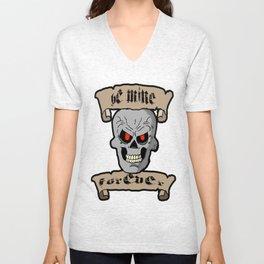 Be Mine Forever Skull and Scrolls Unisex V-Neck