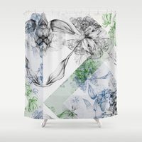 serenity Shower Curtains featuring Serenity by La Scarlatte