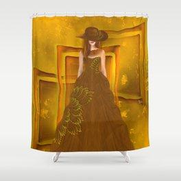 Autumn ball gown Shower Curtain