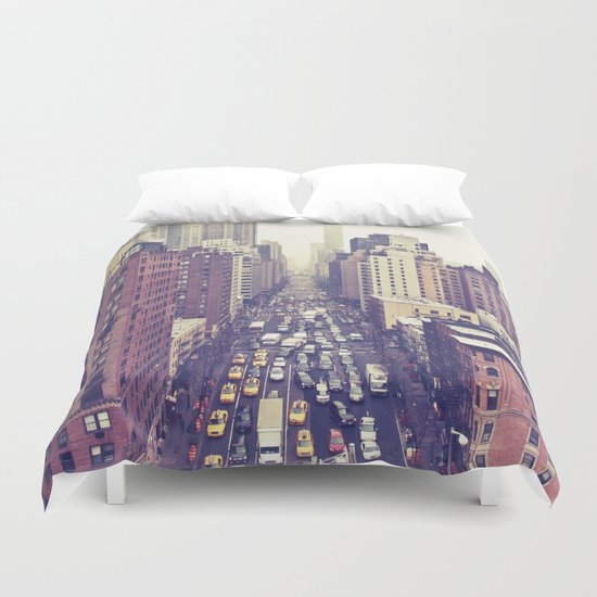 flying over first... (colour) Duvet Cover