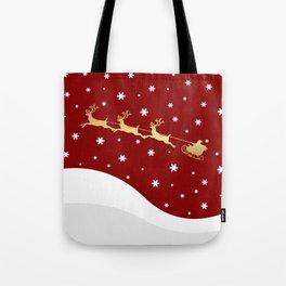Red Christmas Santa Claus Tote Bag