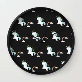 Unicorn Pattern Wall Clock