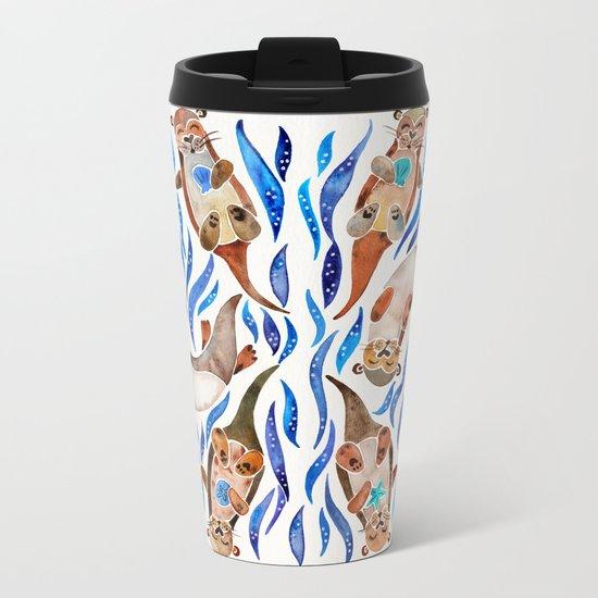 Five Otters – Blue Palette Metal Travel Mug