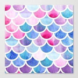 Mermaid scales Canvas Print