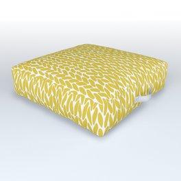 Hand Knit Yellow Outdoor Floor Cushion