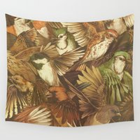 tree Wall Tapestries featuring Red-Throated, Black-capped, Spotted, Barred by Teagan White